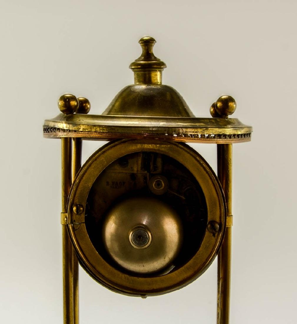 French Glass Dome Mantle Clock - 5