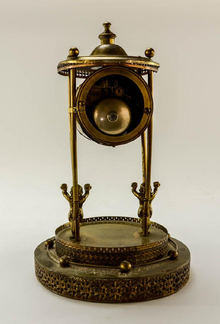 French Glass Dome Mantle Clock - 7