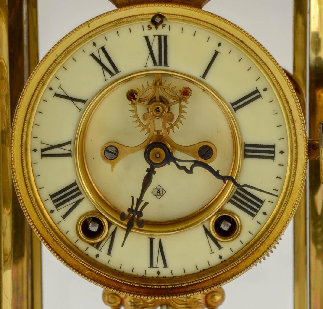 Ansonia Crystal Regulator Clock - 3