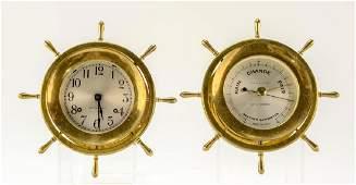 Seth Thomas Ships Clock & Barometer