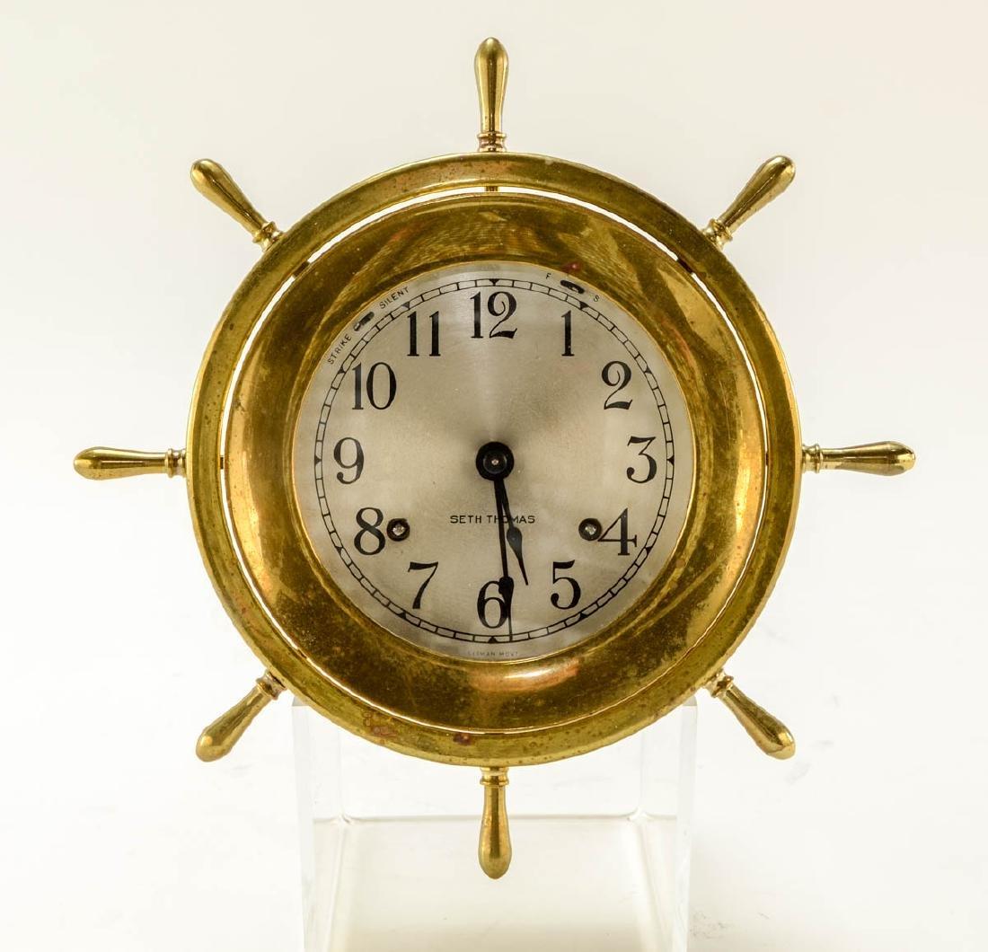 Seth Thomas Ships Clock & Barometer - 2