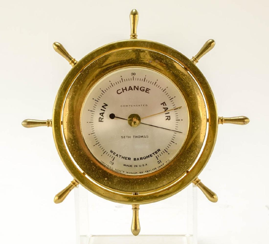 Seth Thomas Ships Clock & Barometer - 4