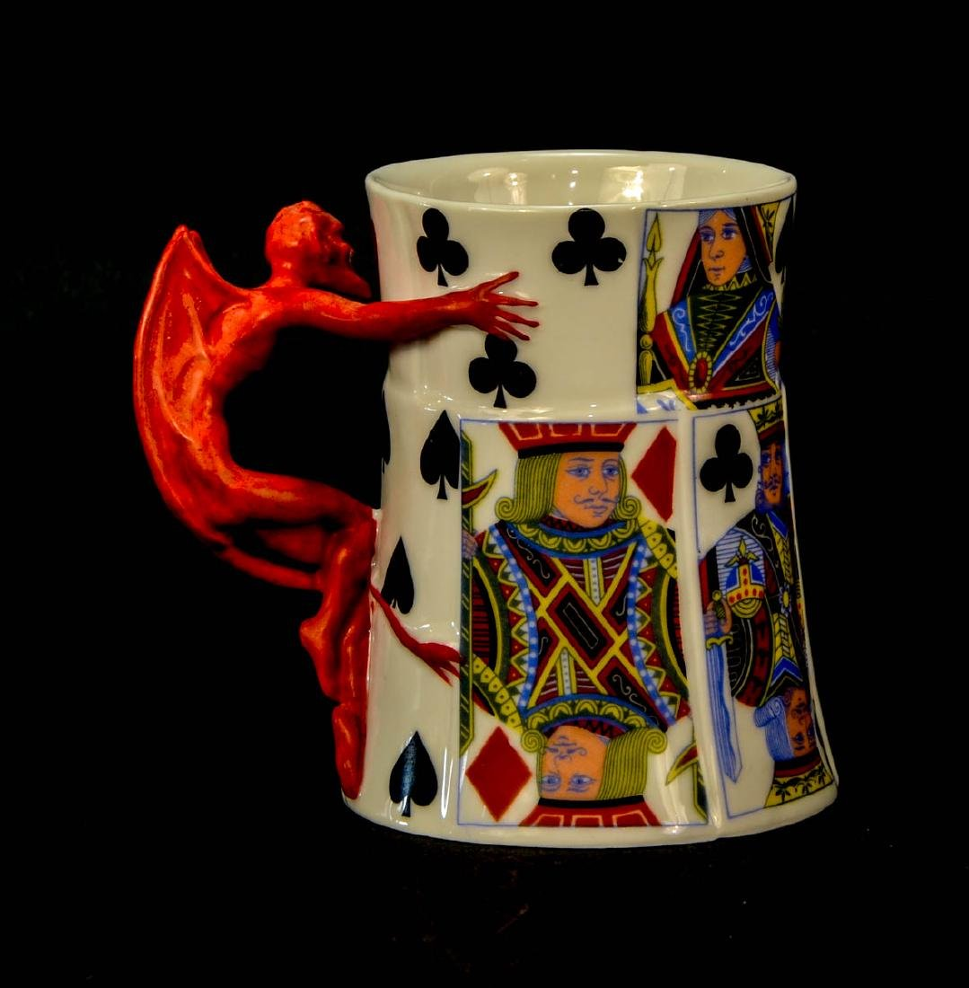 Royal Bayreuth Porcelain Devil mug - 2