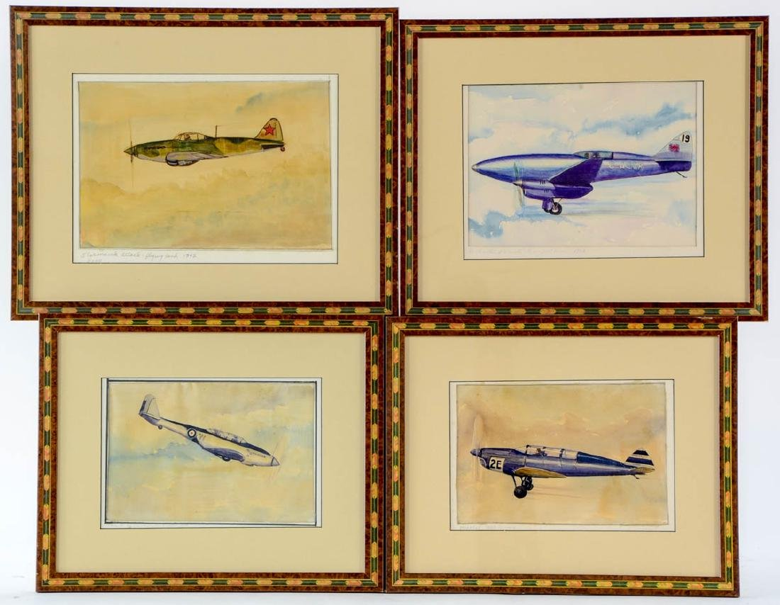 Four Aviation Illustrations