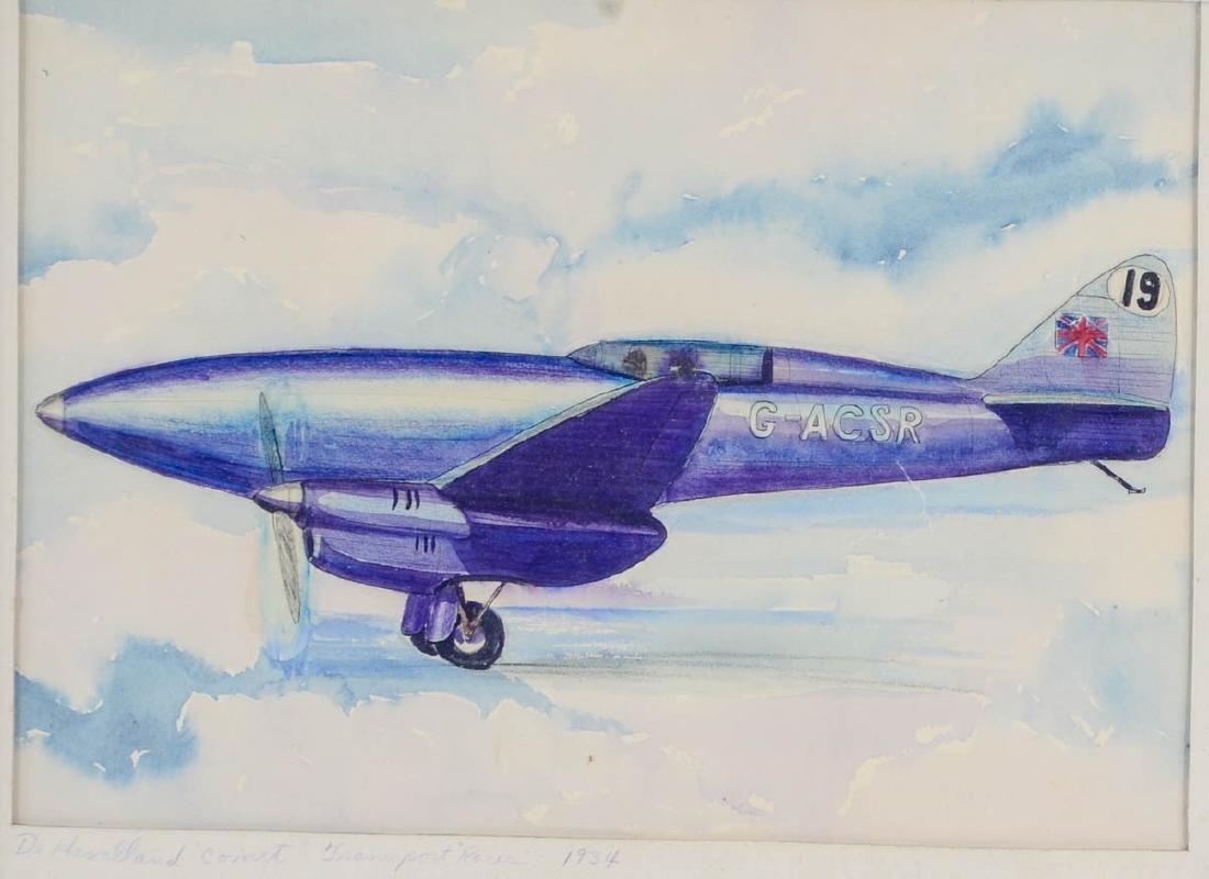 Four Aviation Illustrations - 5