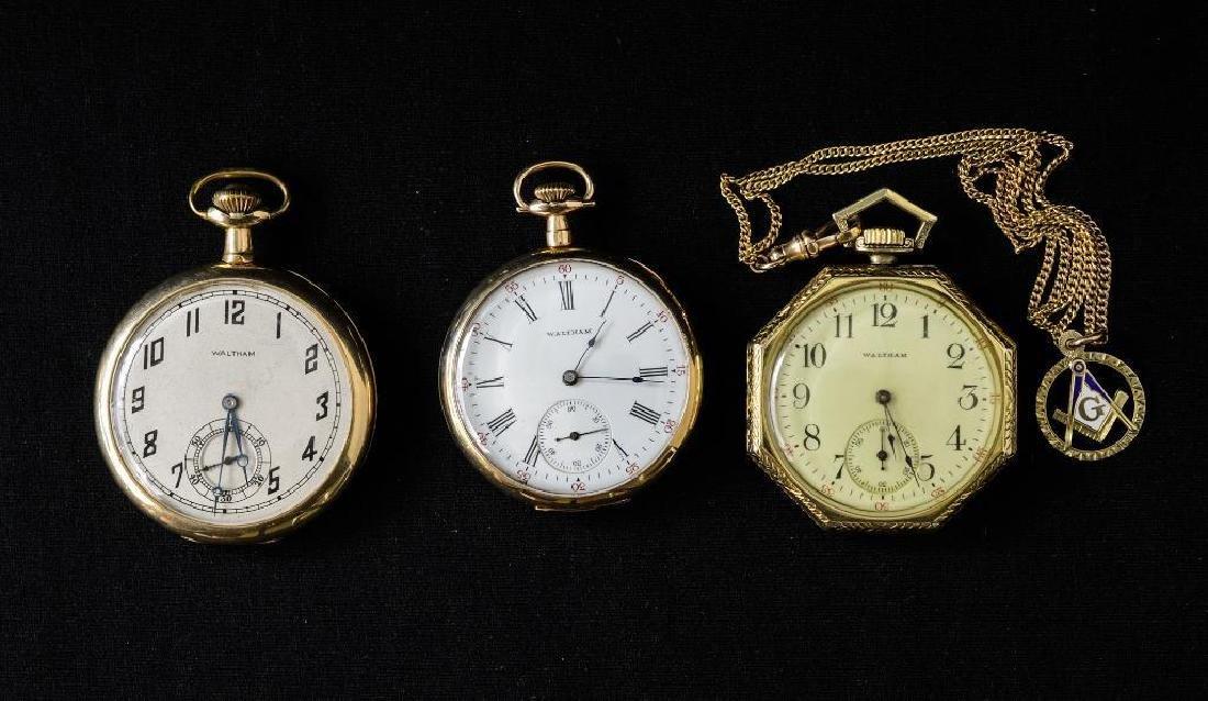 Three 14K Waltham Pocket Watches
