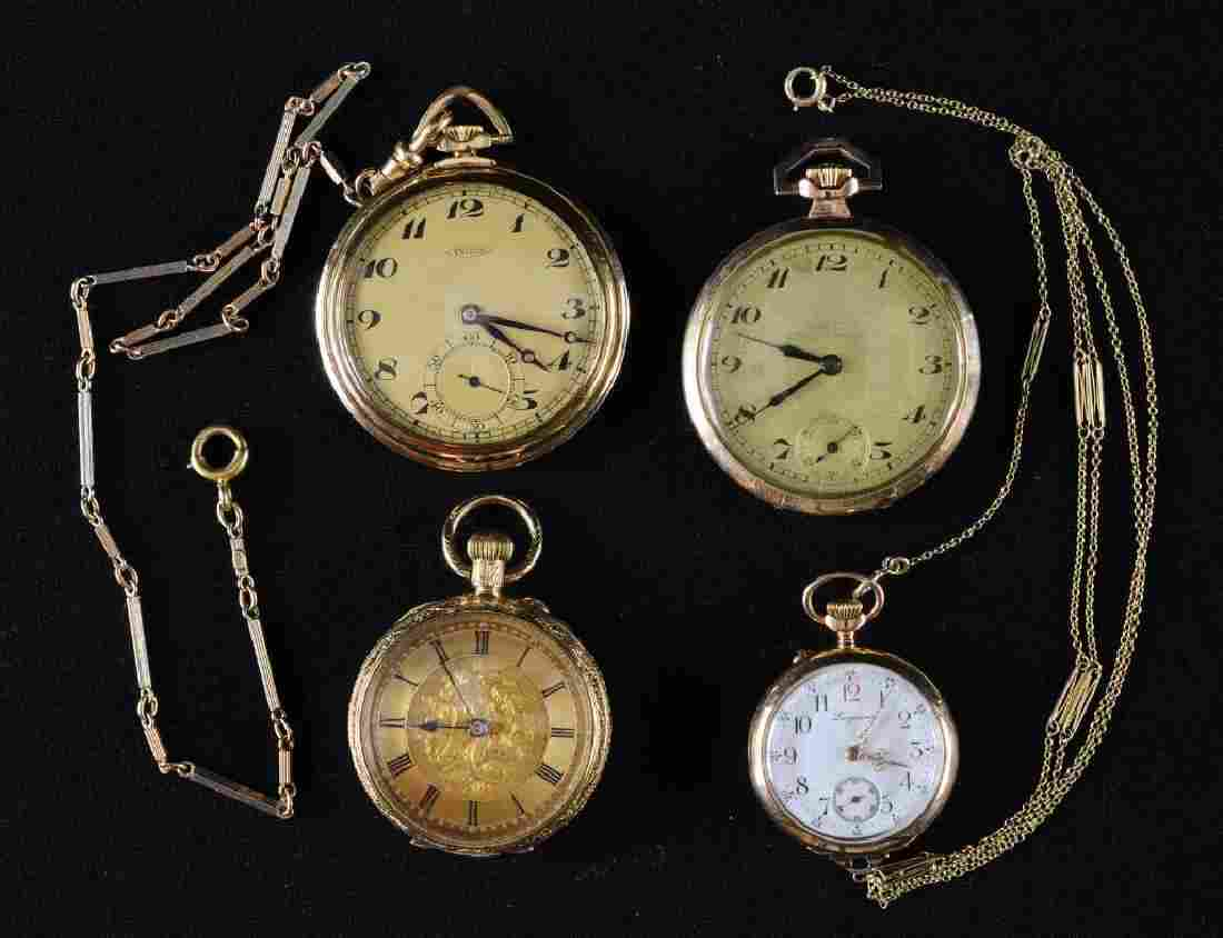 Four Estate Gold Pocket Watches
