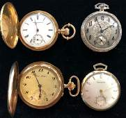 4 Gold Pocket Watches