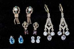 14K Estate Earrings Group