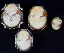 Estate Cameo Jewelry Group