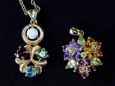 14K Multi Gemstone Jewelry Group