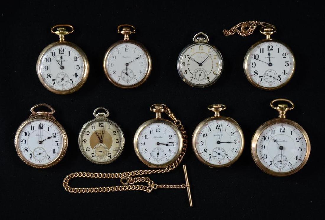 9 Mens Hamilton Pocket Watches