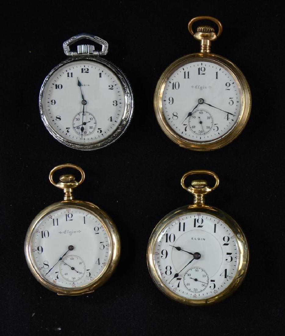 8 Elgin Mens Pocket Watches
