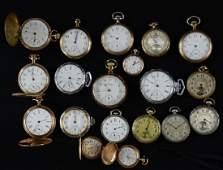 19 Estate Waltham Pocket Watches