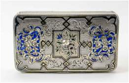 French Parcel Gilt and Silver Box