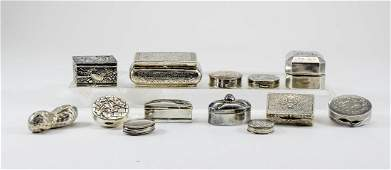 Collection of Small Silver Boxes