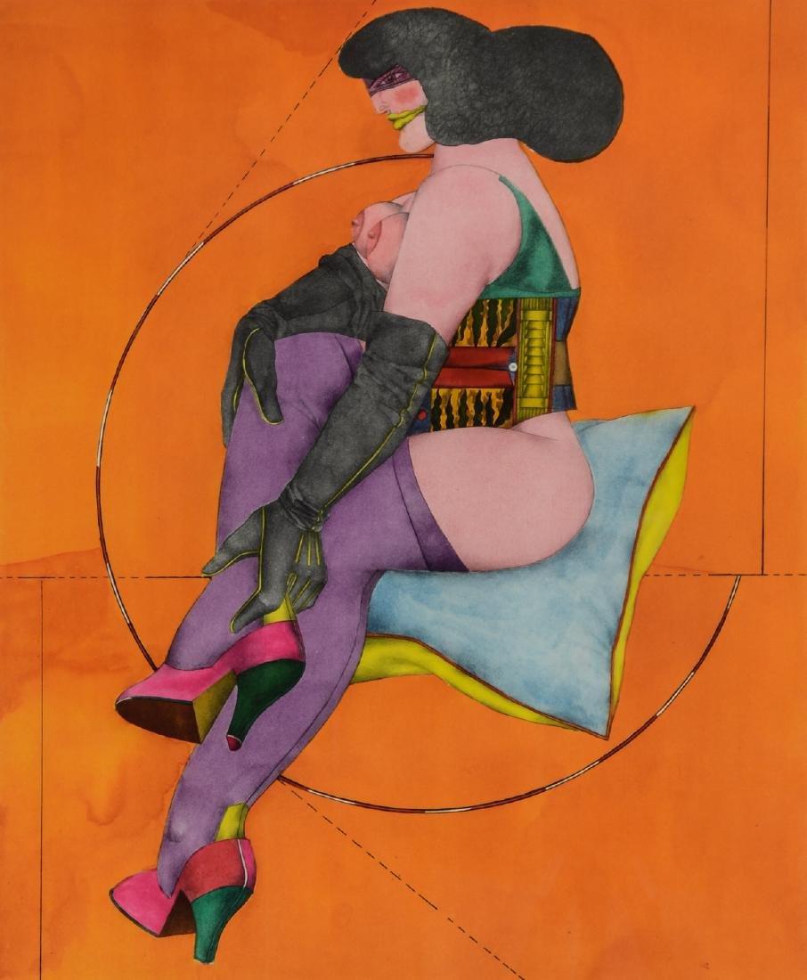 Richard Linder Lithograph Nude