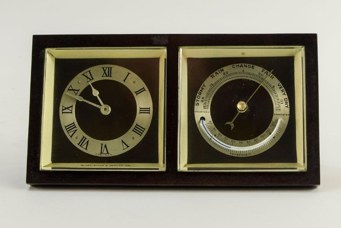 Chelsea Desk Clock Barometer