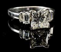 Ladies Platinum set Princess Diamond