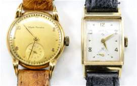 2 Mens Gold Wrist Watches