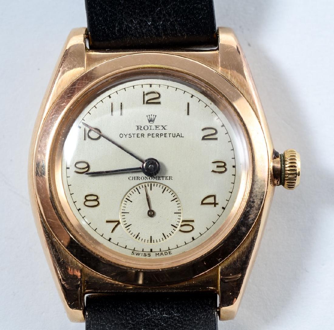 Mens Vintage Rose Gold Rolex Wrist Watch