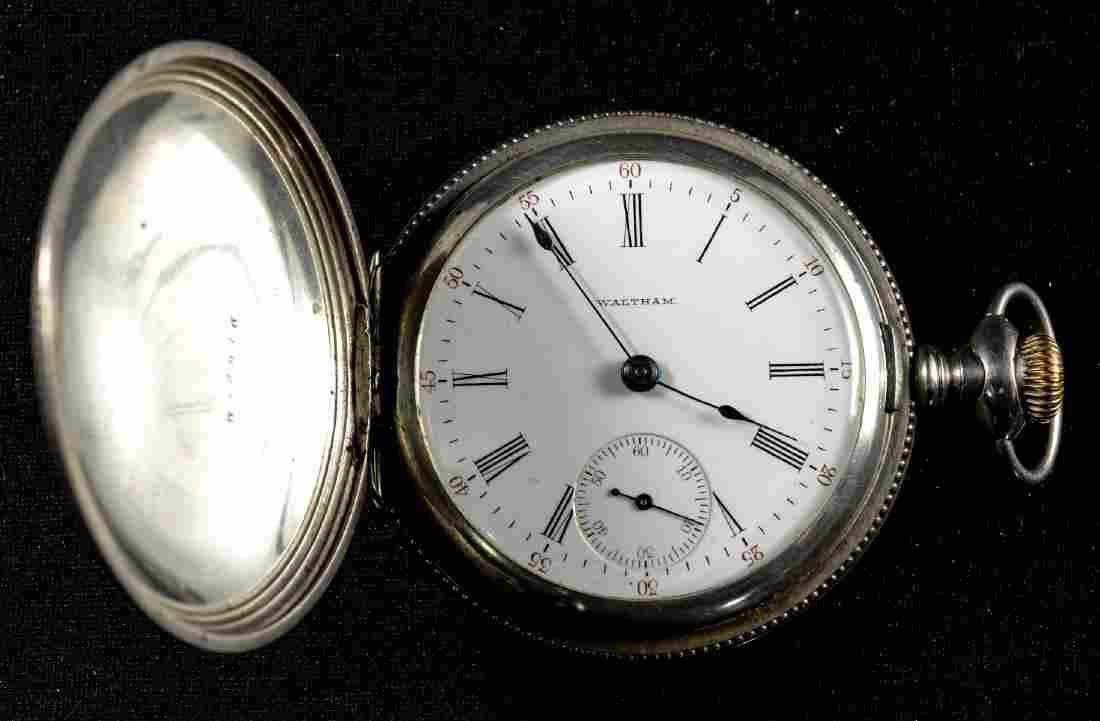 Antique Sterling Silver Waltham Pocket Watch