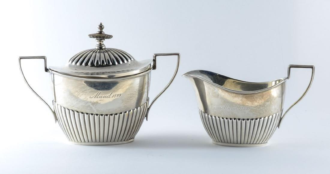 Gorham Queen Anne Sterling Silver Tea Set - 4