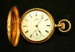 14K Hunter Case Pocket Watch