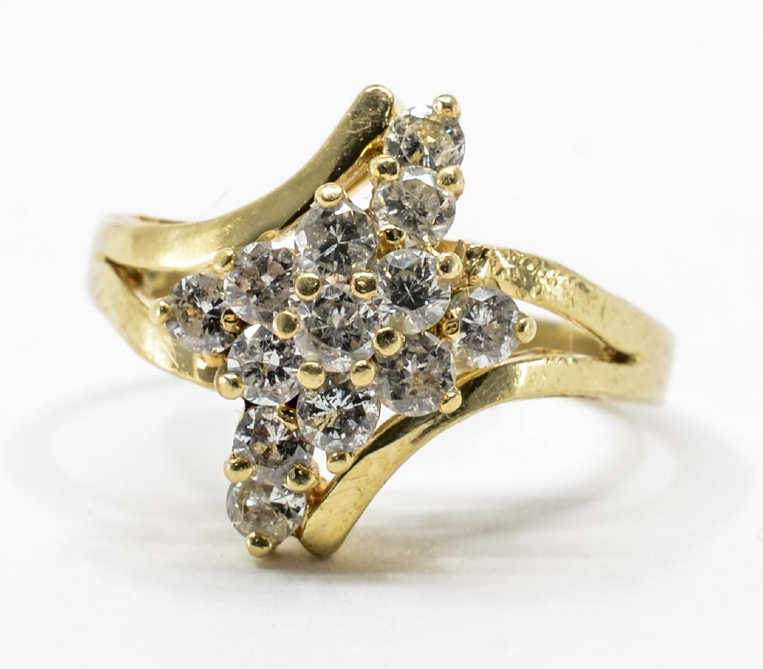 Ladies 14K Multi Diamond Cocktail Ring