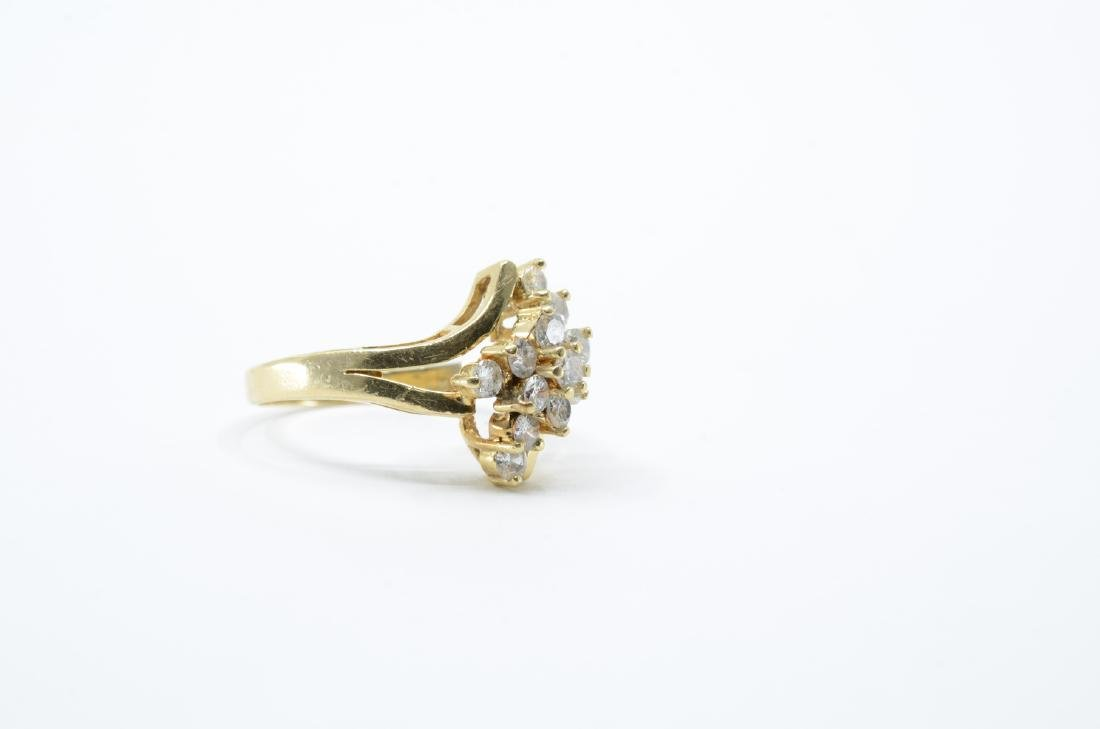 Ladies 14K Multi Diamond Cocktail Ring - 2