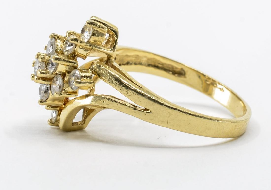 Ladies 14K Multi Diamond Cocktail Ring - 3