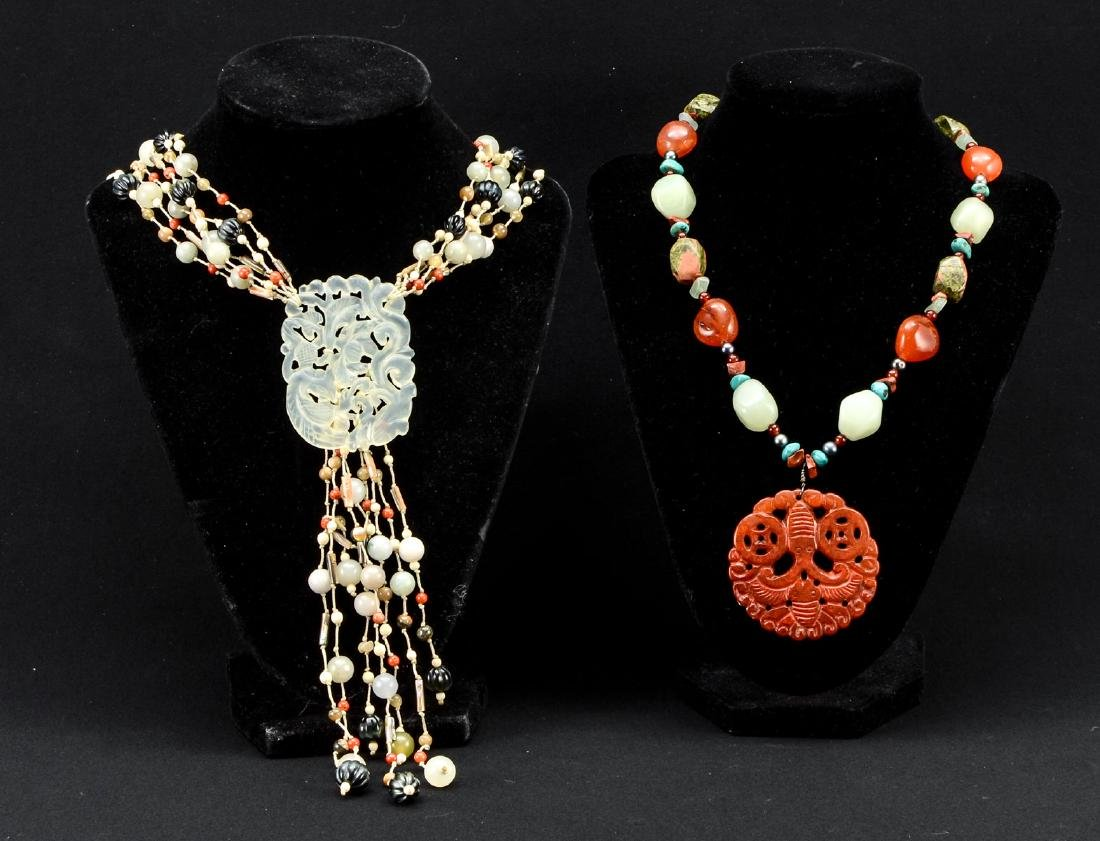 Two Asian Beaded Necklaces