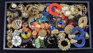 Vintage large size clip earrings