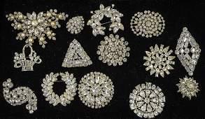 Vintage Fashion Rhinestone pins