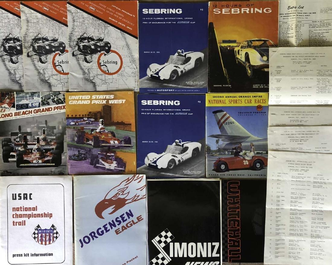 9 programs - incl 6 Sebring, 4 press kits