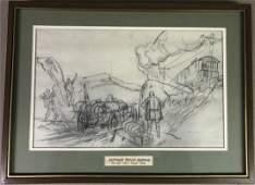 Original Peter Helck pencil prelim drawing