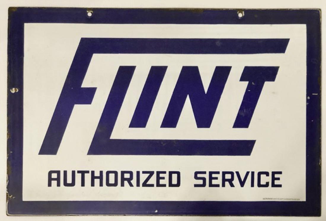 Flint Authorized Service porcelain sign - 2
