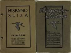 Two 1930's Hispano Suiza parts catalogs