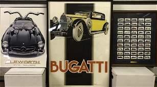 Euro British poster lot Merc Benz model