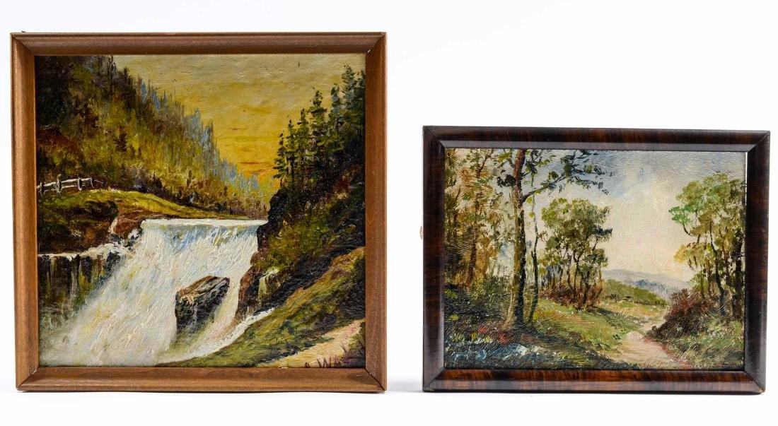 Two Arthur Watts Landscape Paintings