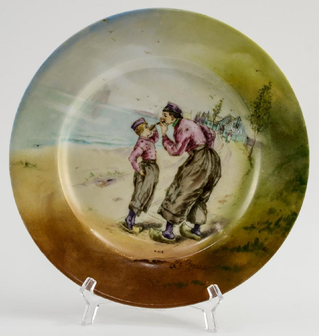 Handel Ware Porcelain Plate w/ smoking scene
