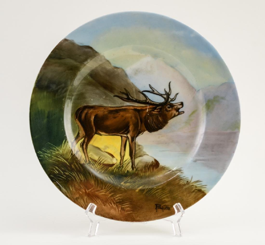 Handel Ware Porcelain Plate w/ Elk