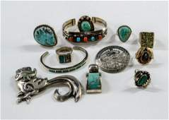 Southwest Sterling Silver Jewelry Group