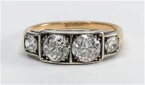 Ladies 14K Diamond Ring: over 2 CTW