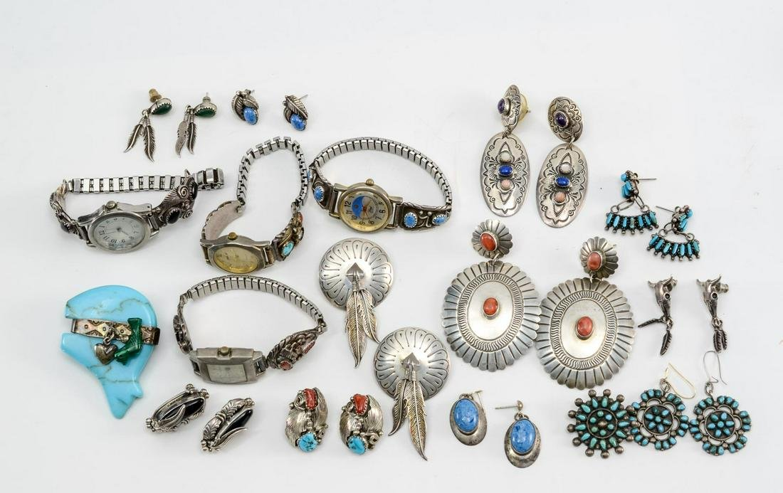 Mixed Southwest Silver Jewelry