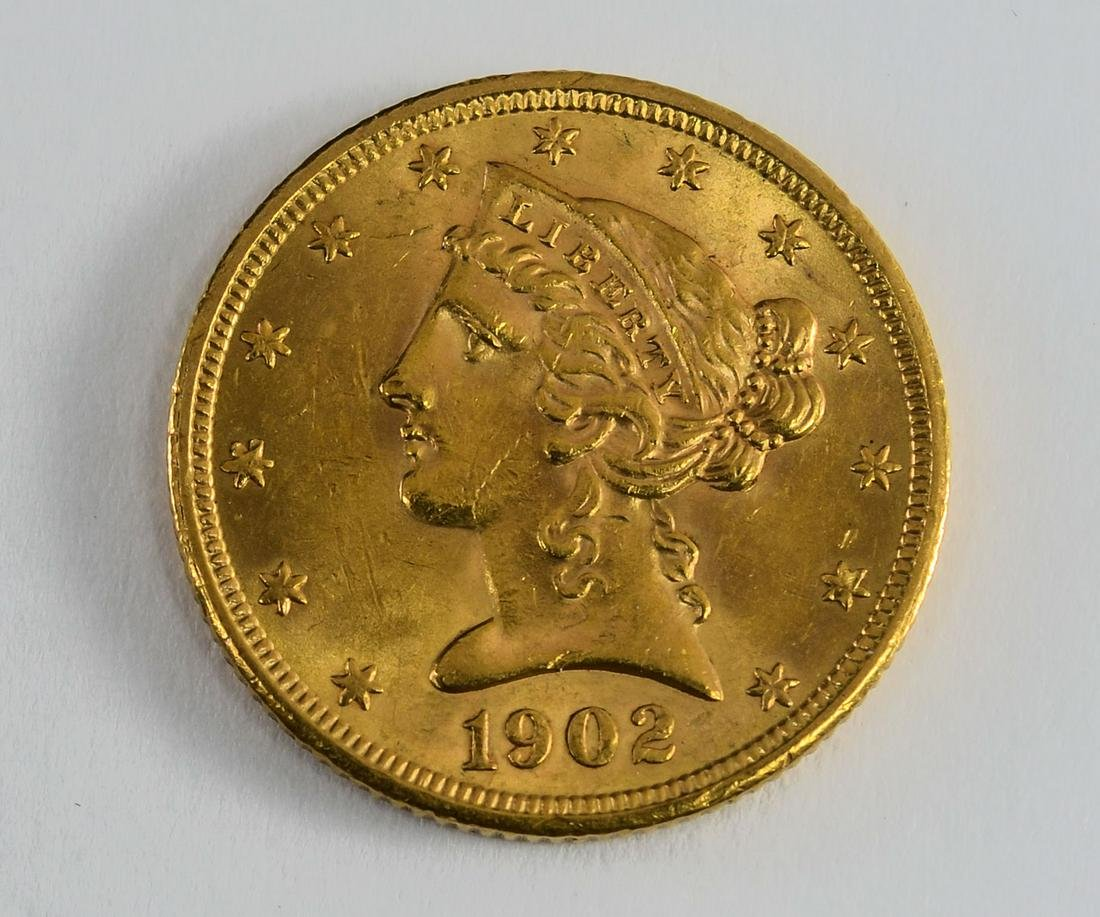1902-S $5 Liberty Gold Half Eagle