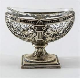 German Silver Classical Open Salt