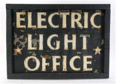 Electric Light Office Power Company Trade Sign