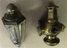 Two early Pierce Arrow side lights -