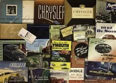 1938-1942 Chrysler, DeSoto, Dodge, Plymouth brochu